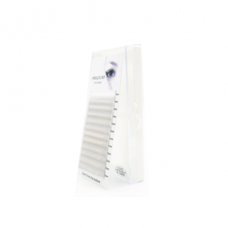 RZĘSY KOLOROWE 0.07 C mix 8-13 mm 12 pasków HBZGTLAD PREMIUM MINK białe