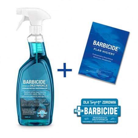 BARBICIDE Spray do dezynfekcji powierzchni 1L + Plan higieny