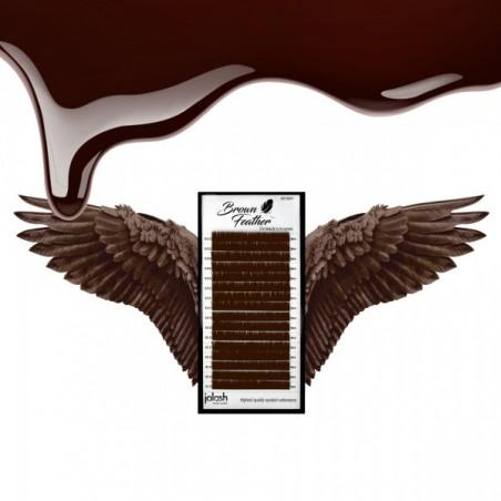 Jolash - Rzęsy BROWN Feather Mix