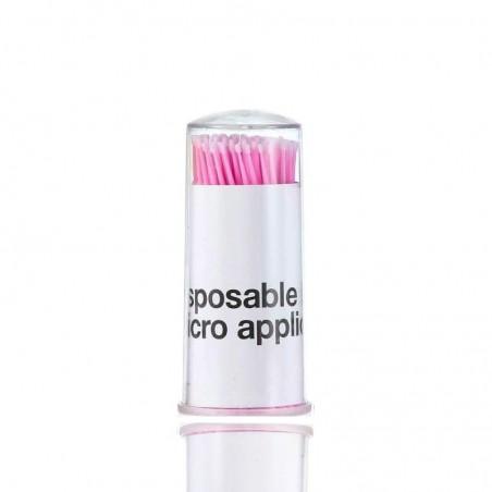 MICROBRUSH - Aplikatory bezwłókienkowe do rzęs 1.5 mm rózowe 100 sztuk